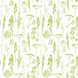 Abstract botanical seamless pattern. Vector herbal background. Abstract botanical seamless pattern. Vector herbal background for various surface. Trendy hand stock illustration