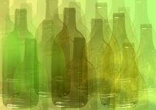 Abstract bottle background Royalty Free Stock Image