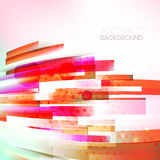 Abstract bottom oriented red colors wave, living lines illustration Stock Photography