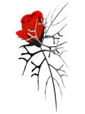 Abstract bouquet of red roses, element of design. Royalty Free Stock Images