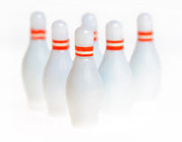 Abstract bowling pins Stock Photo