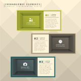 Abstract box infographics Royalty Free Stock Images