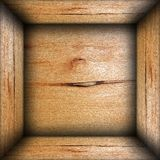 Abstract box interior wood background Stock Images