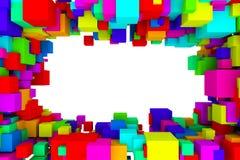 Abstract boxes Stock Photos