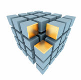 Abstract boxes array Royalty Free Stock Photo
