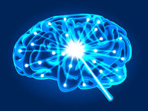 Abstract brain activity Royalty Free Stock Image
