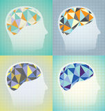 Abstract Brain Activity Set Stock Afbeeldingen