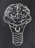 Abstract Brain as a Bulb Stock Images