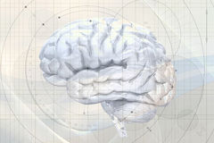 Abstract brain background Royalty Free Stock Photography