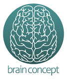 Abstract brain circle Stock Photography