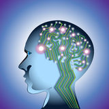 Abstract Brain Circuit Stock Image
