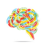 Abstract brain design Royalty Free Stock Photography