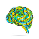 Abstract brain design Royalty Free Stock Photo