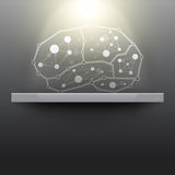 Abstract brain exhibition Royalty Free Stock Image