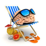 Abstract brain relax Royalty Free Stock Photo