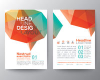 Abstract brain shape low polygon graphic design Layout Royalty Free Stock Photos