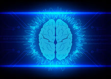 Abstract brain Technology with circuit  background Royalty Free Stock Photos