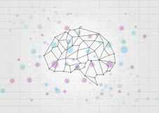 Abstract brain technology concept background.  illustratio Royalty Free Stock Photography