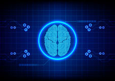 Abstract brain technology concept design background. illustratio Stock Images