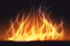 Abstract brandlicht en rook Royalty-vrije Stock Foto's