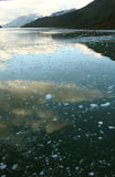 Abstract, brash ice forming at sundown Stock Photography