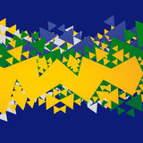 Abstract brasil background. Abstract brazil football background design Royalty Free Stock Photos