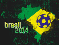Abstract Brasil Country Flag. With brasil 2014 text Royalty Free Stock Photo