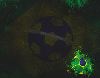 Abstract Brasil Country Flag Royalty Free Stock Images