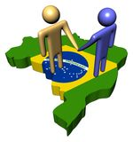 Abstract Brazil business meeting Stock Images