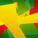 Abstract Brazil Colored Design Stock Image