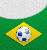 Abstract brazilian background with ball Stock Photography