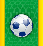 Abstract brazilian background with ball Royalty Free Stock Photo