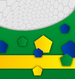 Abstract brazilian background with geometric figur Royalty Free Stock Image