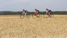 Abstract Breakaway - Tour De France 2017 Stock Image