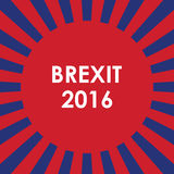 Abstract brexit background. Abstract brexit 2016 background, red-blue combination,  illustration Stock Photos