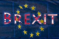 Abstract Brexit-Vlag Fijn Art. Royalty-vrije Stock Afbeeldingen