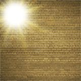 Abstract brick background.  blurry light effects Stock Image