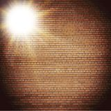 Abstract brick background.  blurry light effects Stock Photo