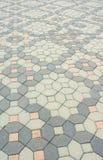 Abstract brick block floor cover Stock Photos