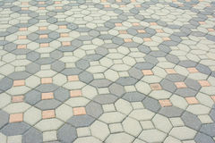 Abstract brick block floor cover Stock Photography