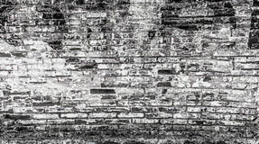 Abstract brick wall in black and white background Royalty Free Stock Image