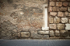 Abstract brick wall column Stock Photography