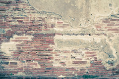 Abstract bricks wall background old  stucco color light gray dir Royalty Free Stock Photo