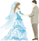 Abstract bride and groom  Royalty Free Stock Images