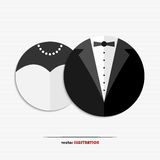 Abstract bride and groom web icons Royalty Free Stock Photo