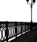 Abstract bridge silhouette Stock Photos