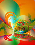 Abstract Bright 3-d Curves Stock Images