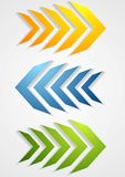 Abstract bright arrows Royalty Free Stock Photography