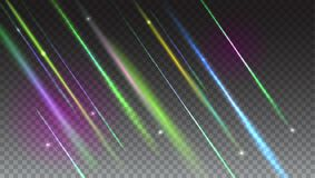 Abstract bright background with blurred light rays and lens flare. Dynamic digital, technology backdrop for breaking Stock Photography