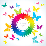 Abstract bright background with butterflies. Abstract bright background with flower and butterflies vector illustration